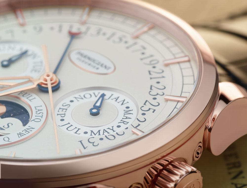 Esfera del reloj Tonda Calendrier Annuel de Parmigiani Fleurier.