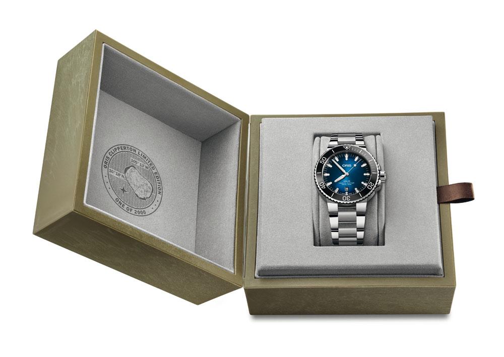 Estuche reloj Reloj de buceo Oris Clipperton Limited Edition