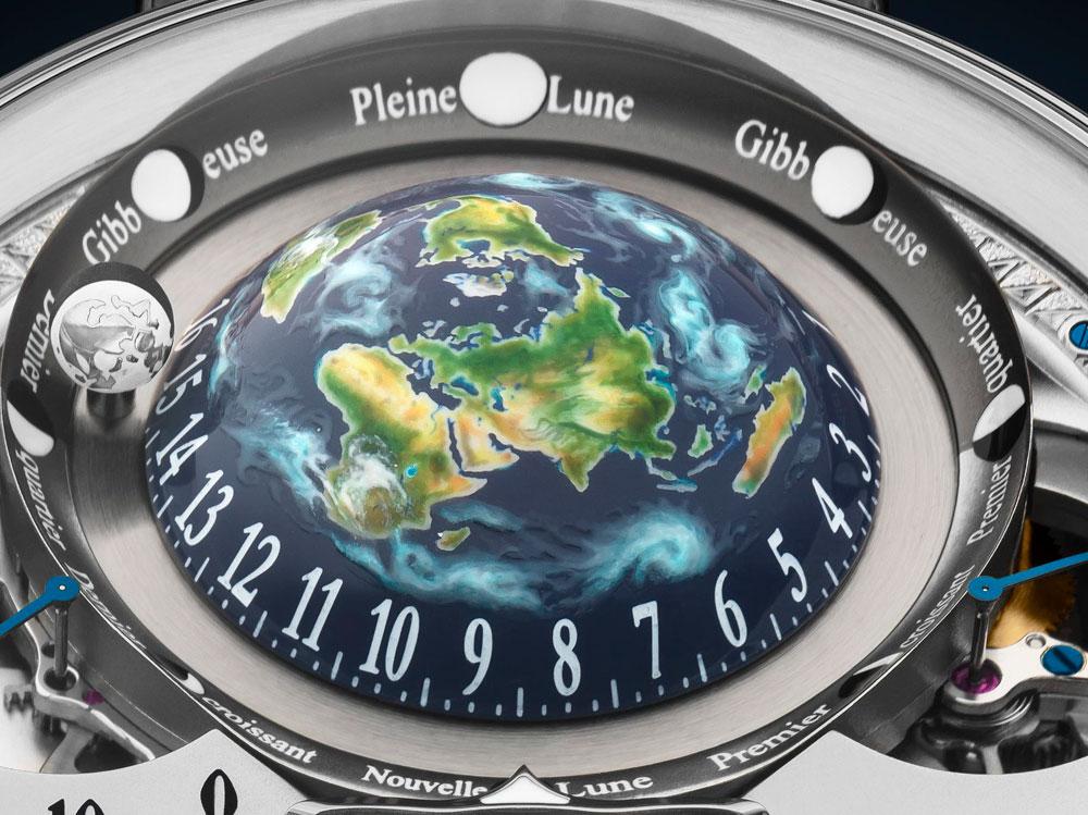 Globo terráqueo reloj astronómico Récital 22 Grand Récital oro rosa de Bovet