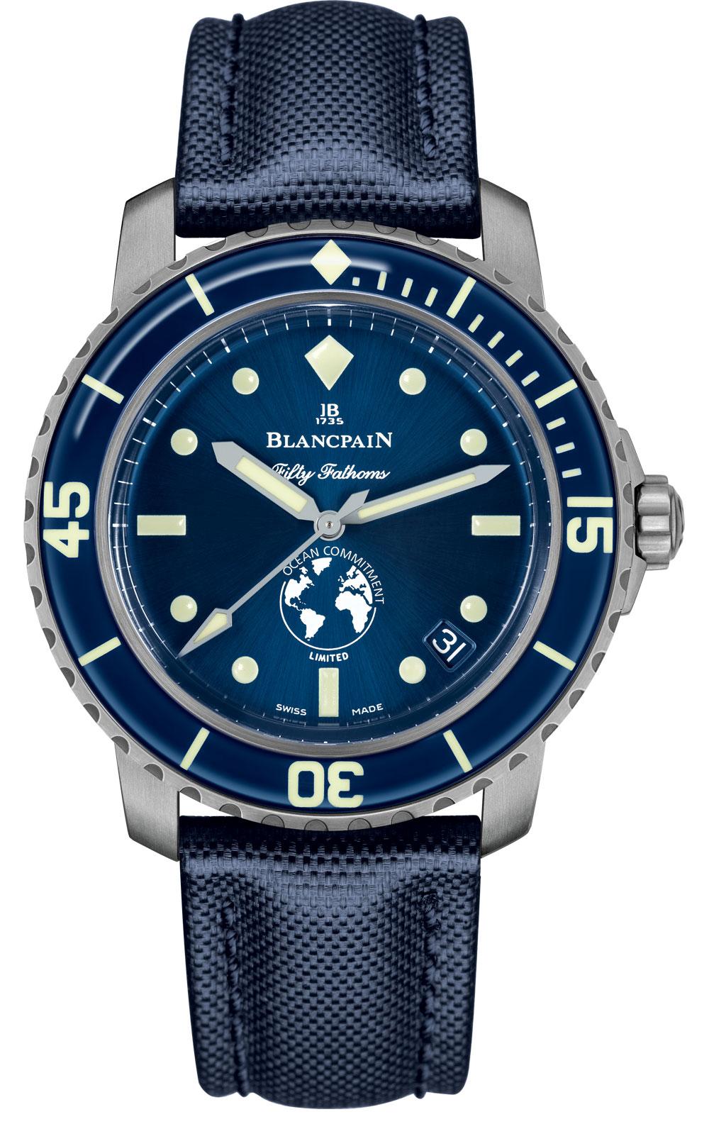 Esfera del reloj de buceo Fifty Fathoms Ocean Commitment III de Blancpain edición limitada 250 ejemplares