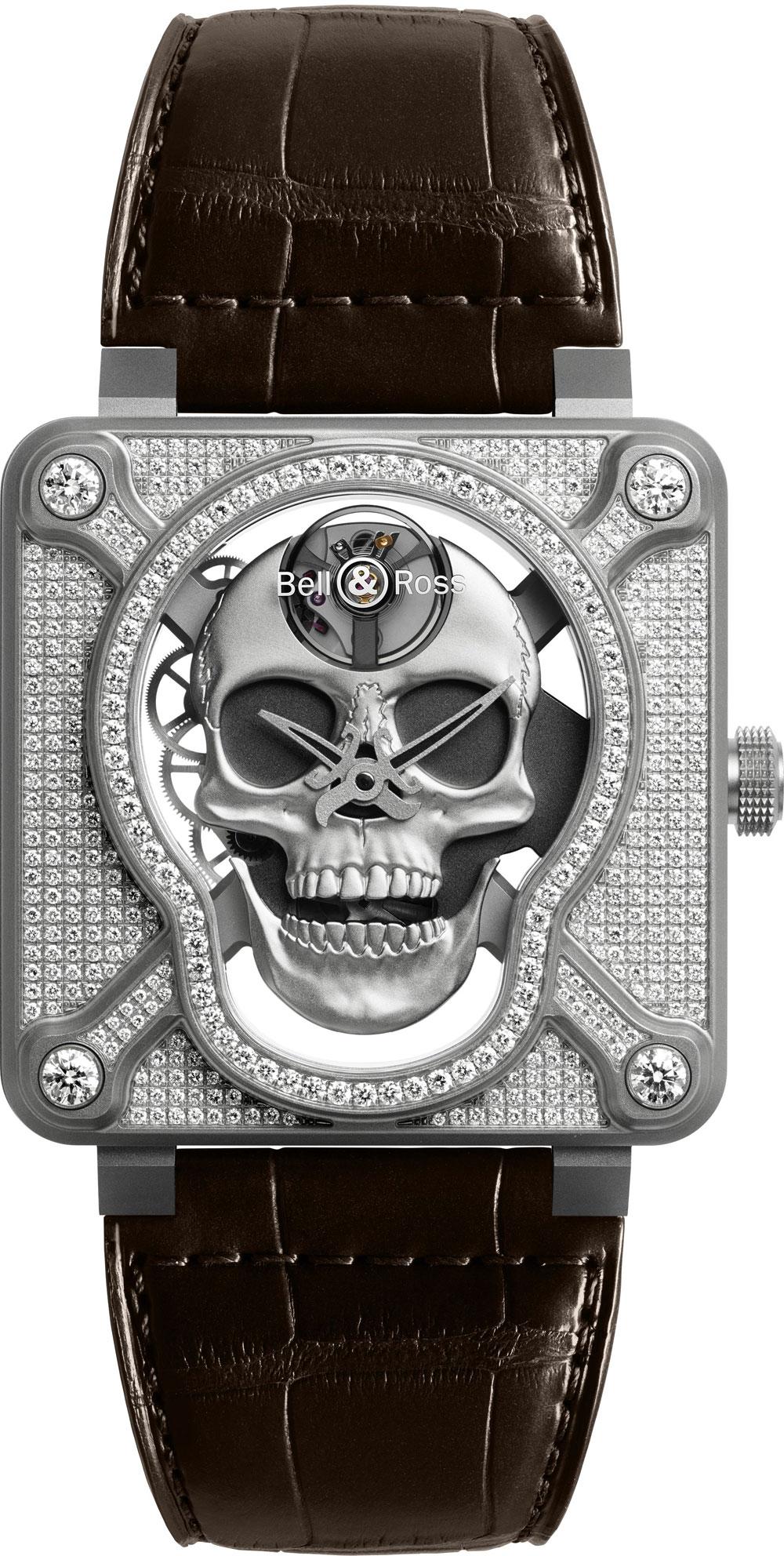 Reloj BR 01 Laughing Skull de Bell & Ross full pavé