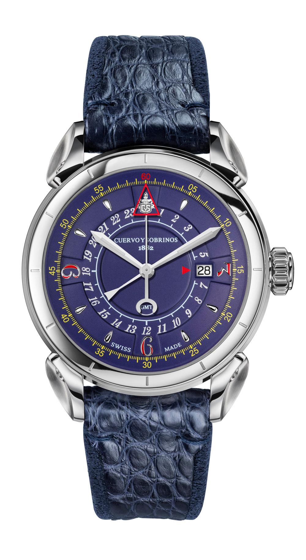 Reloj Historiador Vuelo GMT de Cuervo y Sobrinos