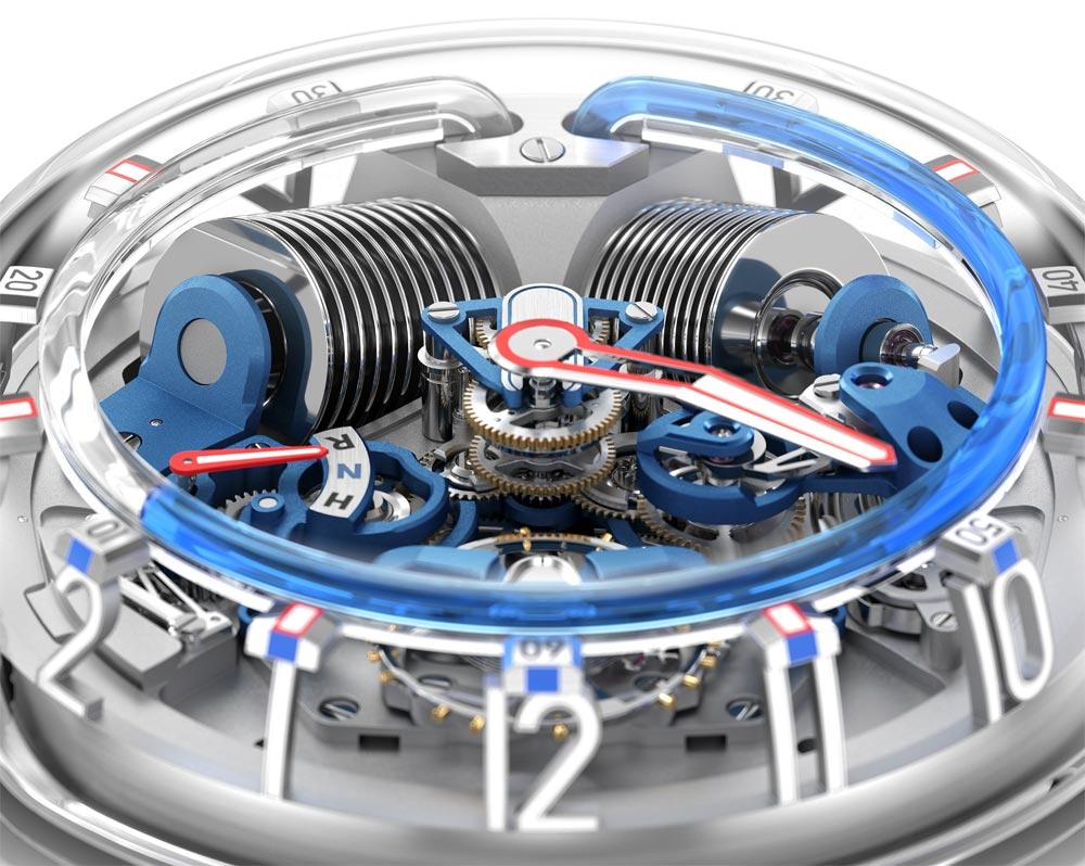 Esfera del reloj H20 de HYT ( The Hydro Mechanical Horologistic en color verde