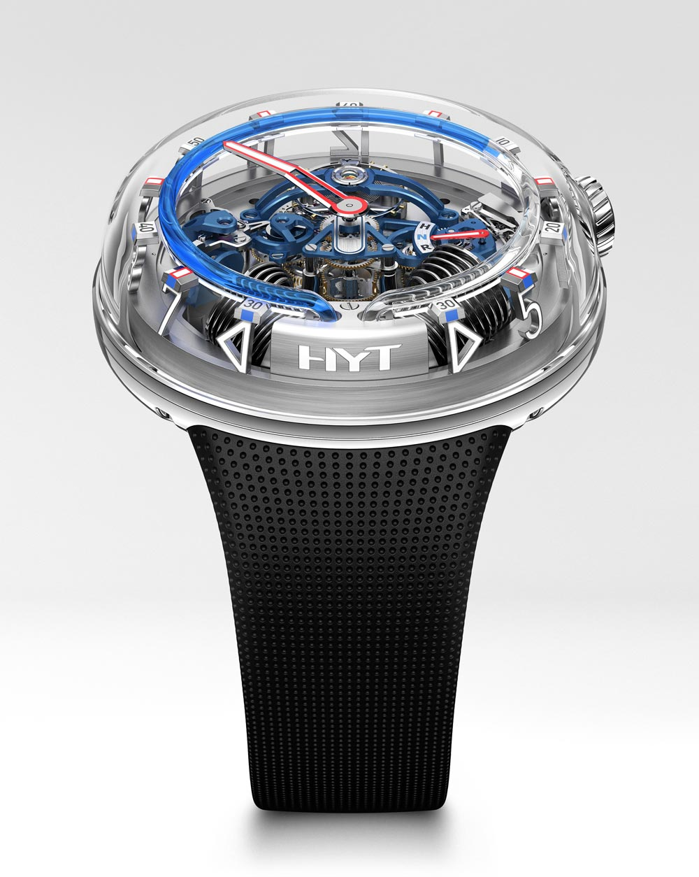 Reloj H20 de HYT ( The Hydro Mechanical Horologistic en color azul