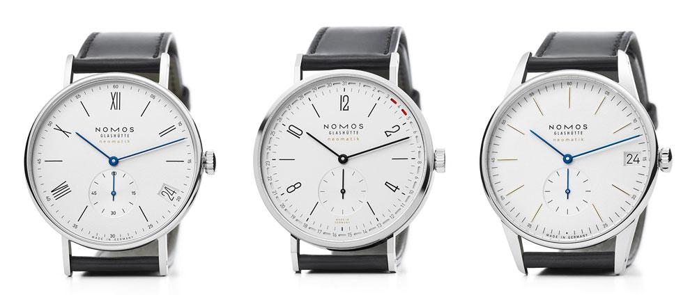 Relojes Tangente, Orion y Ludwig de Nomos Glashütte