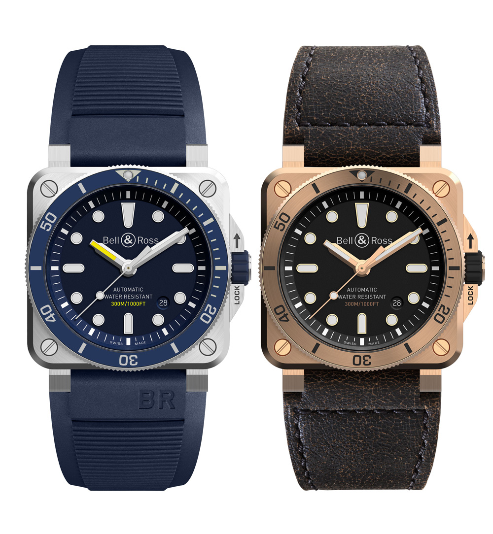 RELOJ BUCEO: BELL & ROSS BR03-92 DIVER