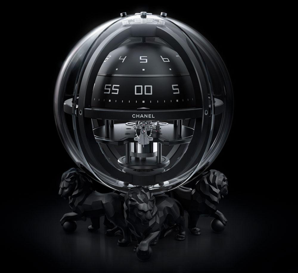 Reloj de sobremesa Cronoesfera de Chaneles una edición limitada y numerada de 5 piezas.
