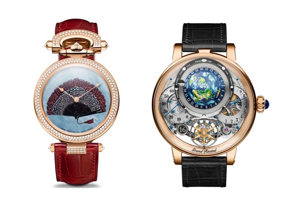Relojes de Bovet 1822 nominados a mejores relojes de 2018 en el Grand Prix d'Horlogerie de Genève (Gran Premio de Relojería de Ginebra)