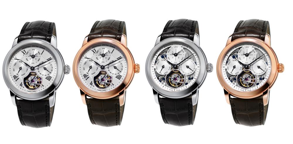 Cuatro versiones del reloj Perpetual Calendar Tourbillon Manufacture en edición limitada a 30 ejemplares de Frederique Constant