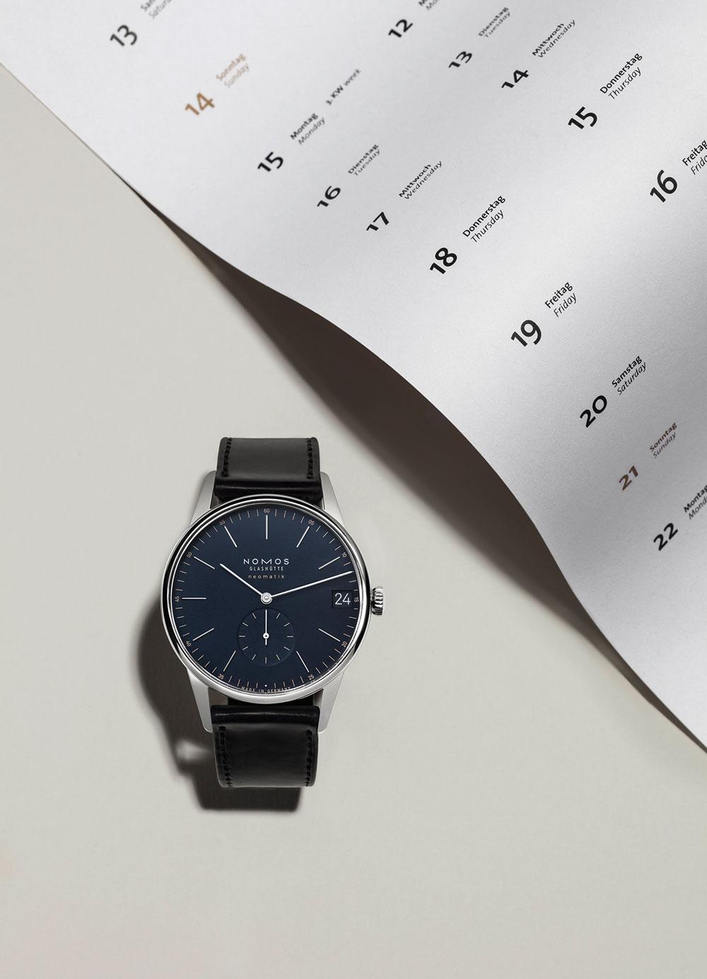 Reloj clásico hombre ultraplano Orion neomatik 41 mm Fecha de Nomos Glashütte