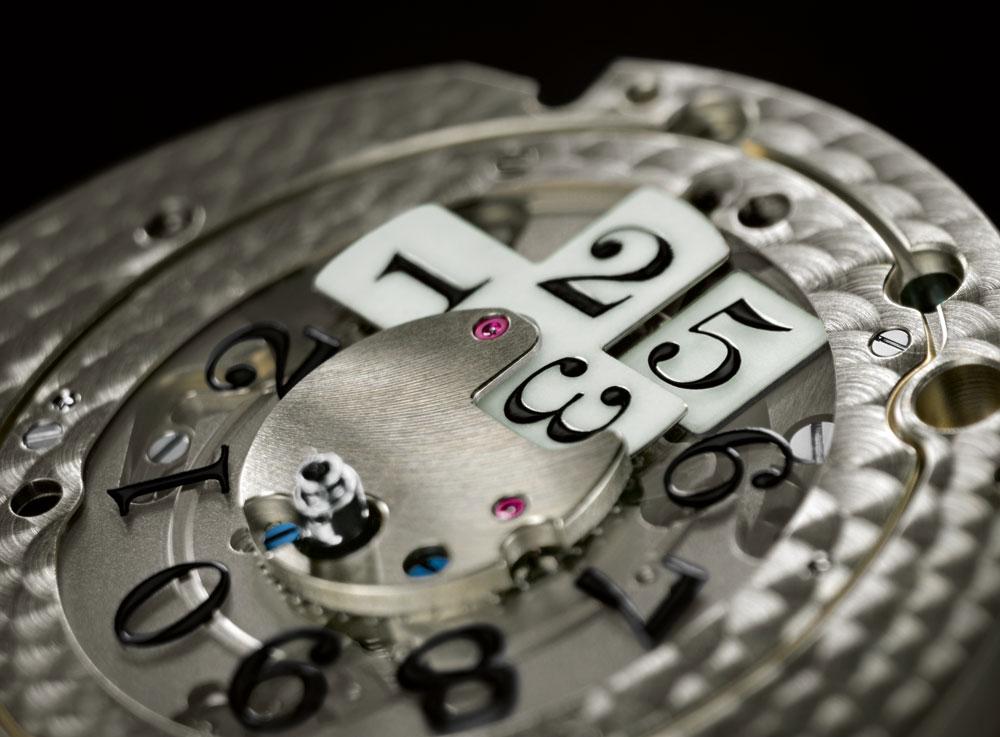 Mecanismo de la gran fecha del cronógrafo flyback Datograph UP/Down Lumen de A. Lange & Söhne