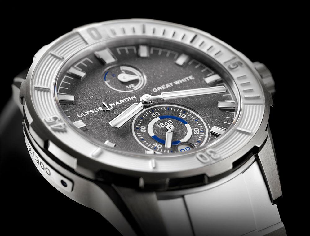 reloj de buceo Diver Chronometer Great White de Ulysse Nardin