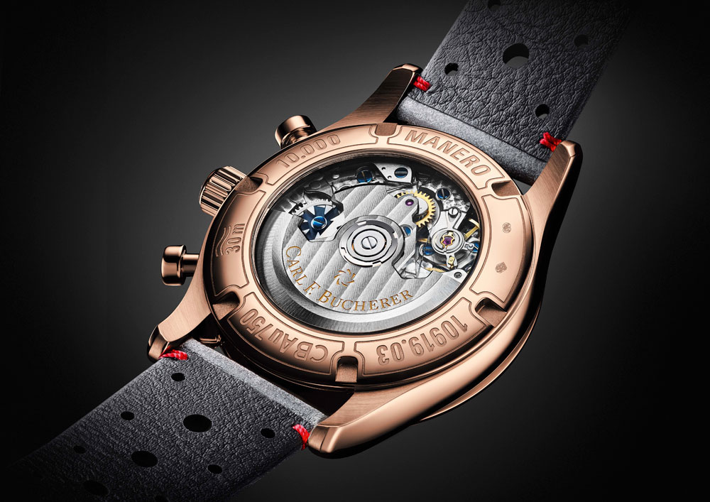 Mecanismo del reloj Manero Flyback de Carl F. Bucherer
