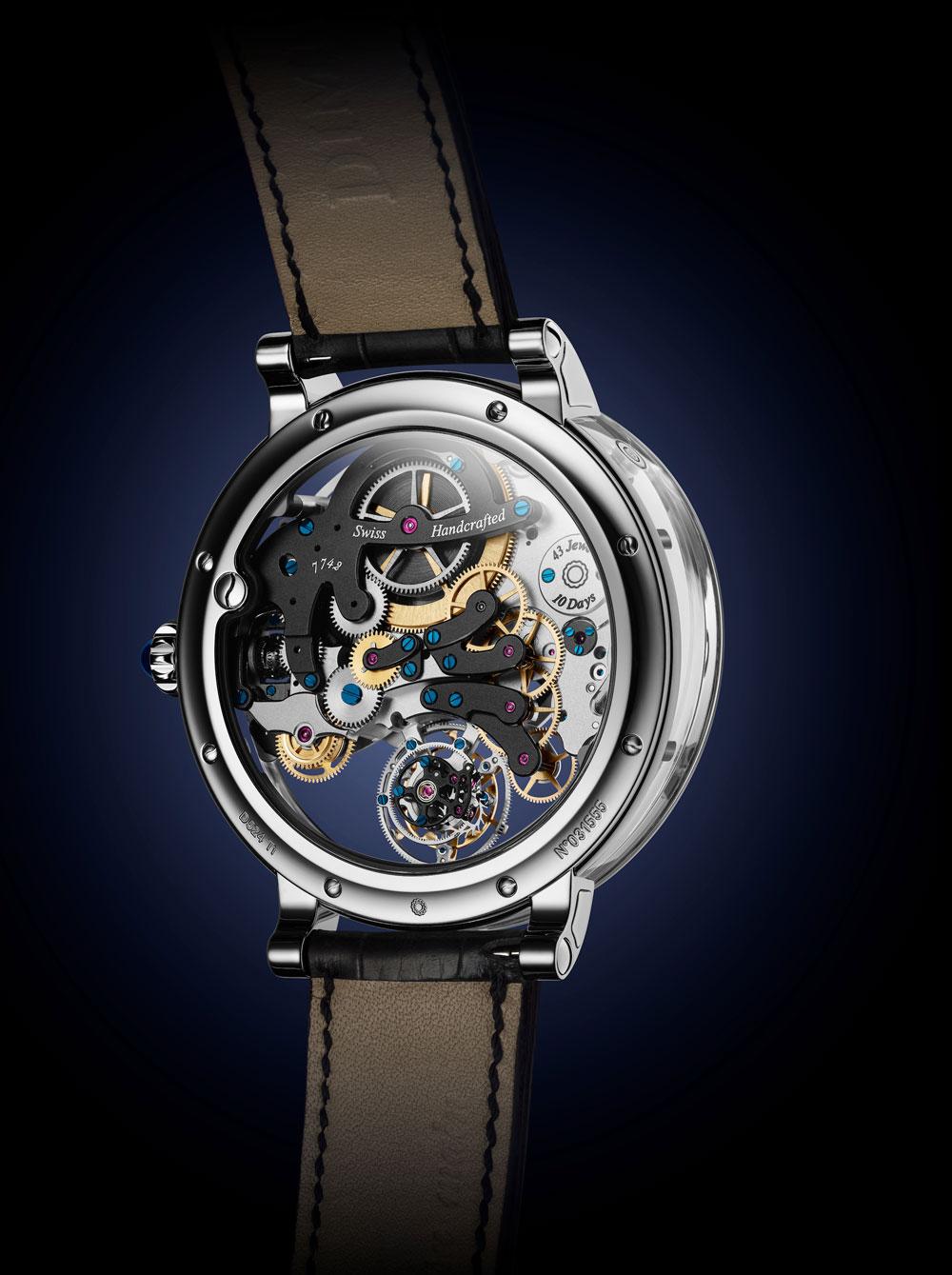 calibre es el 17DM04-SMP patentado por Bovet equipa el reloj Récita 26 Brainstorm Chapter One