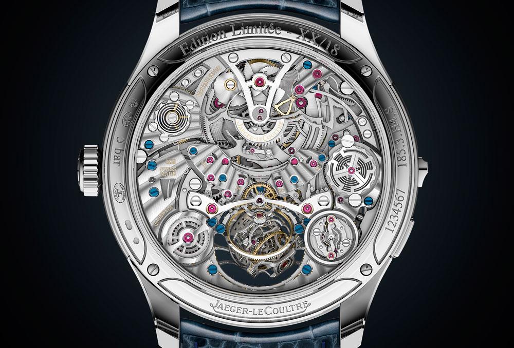 Calibre 184 de carga manual del reloj Master Grande Tradition Gyrotorubillon Westminter Pérpetuel de Jaeger-leCoultre