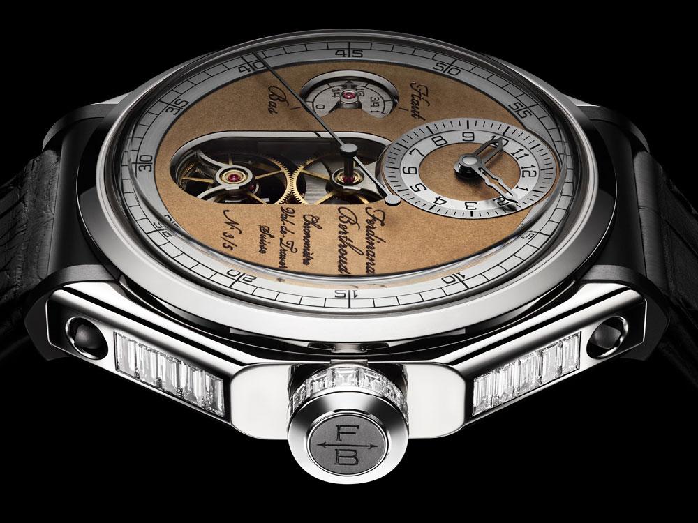 reloj Chronomètre FB 1 Oeuvre d'Or de Ferdinand Berthoud en oro blanco con diamantes