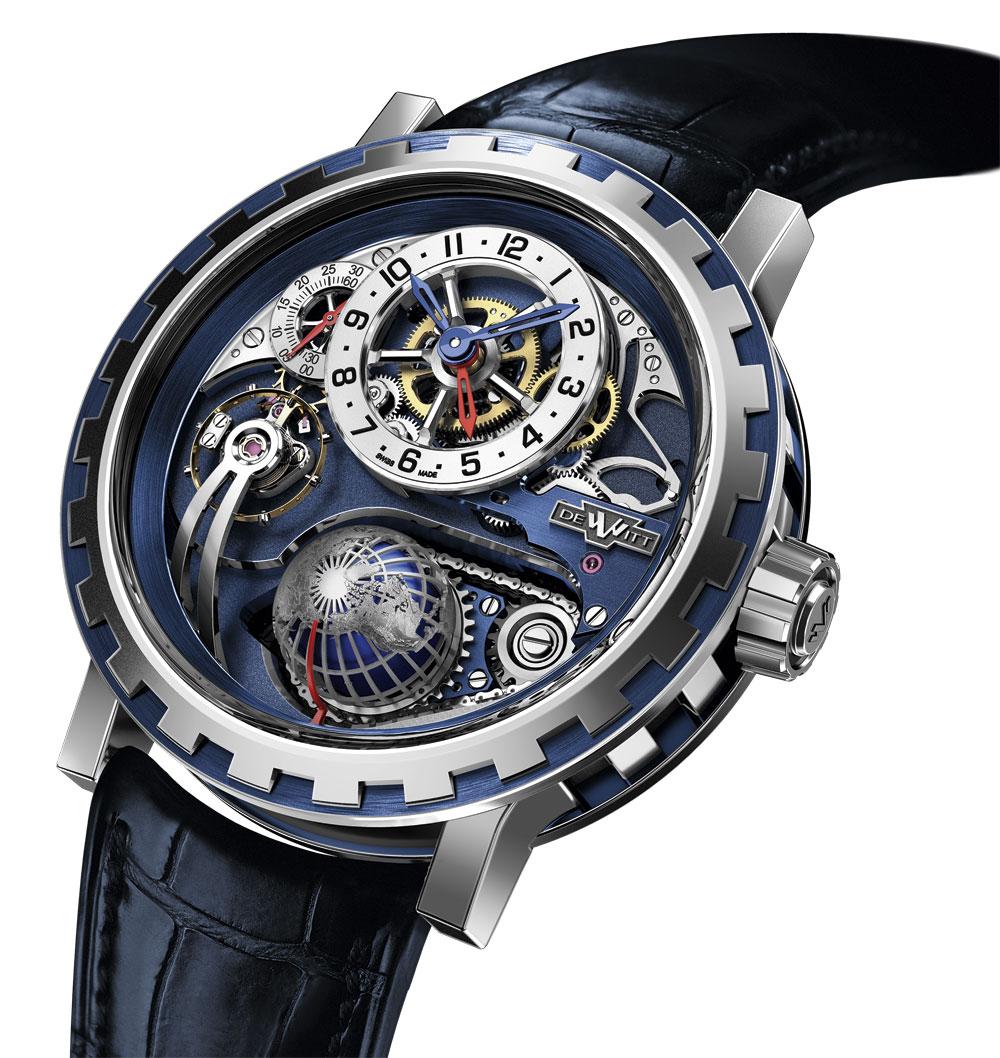 Reloj DeWitt Academia Hour Planet oro blanco