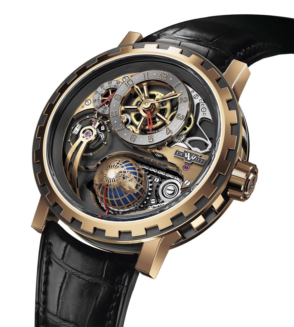Reloj DeWitt Academia Hour Planet oro rosa