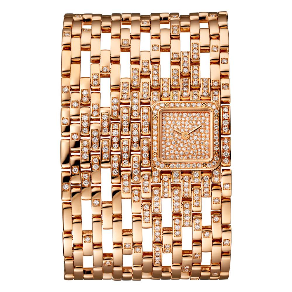 Reloj Panthère de Cartier novedad 2019en oro rosa con diamantes modelo extragrande