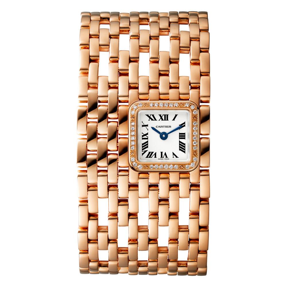 Reloj Panthère de Cartier novedad 2019en oro rosa con diamantes modelo grande