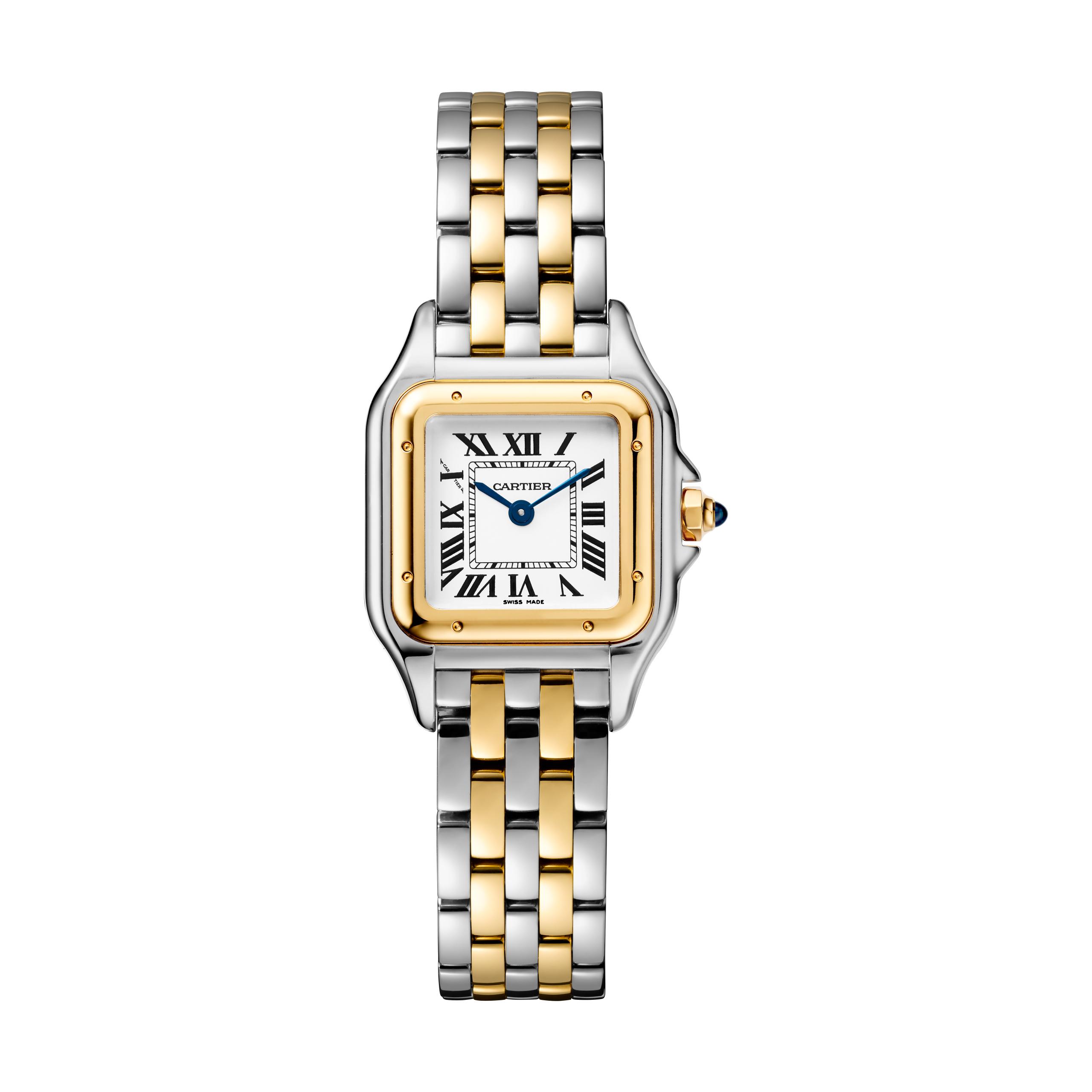 Reloj Panthère Cartier oro blanco y oro amarillo tamaño mediano