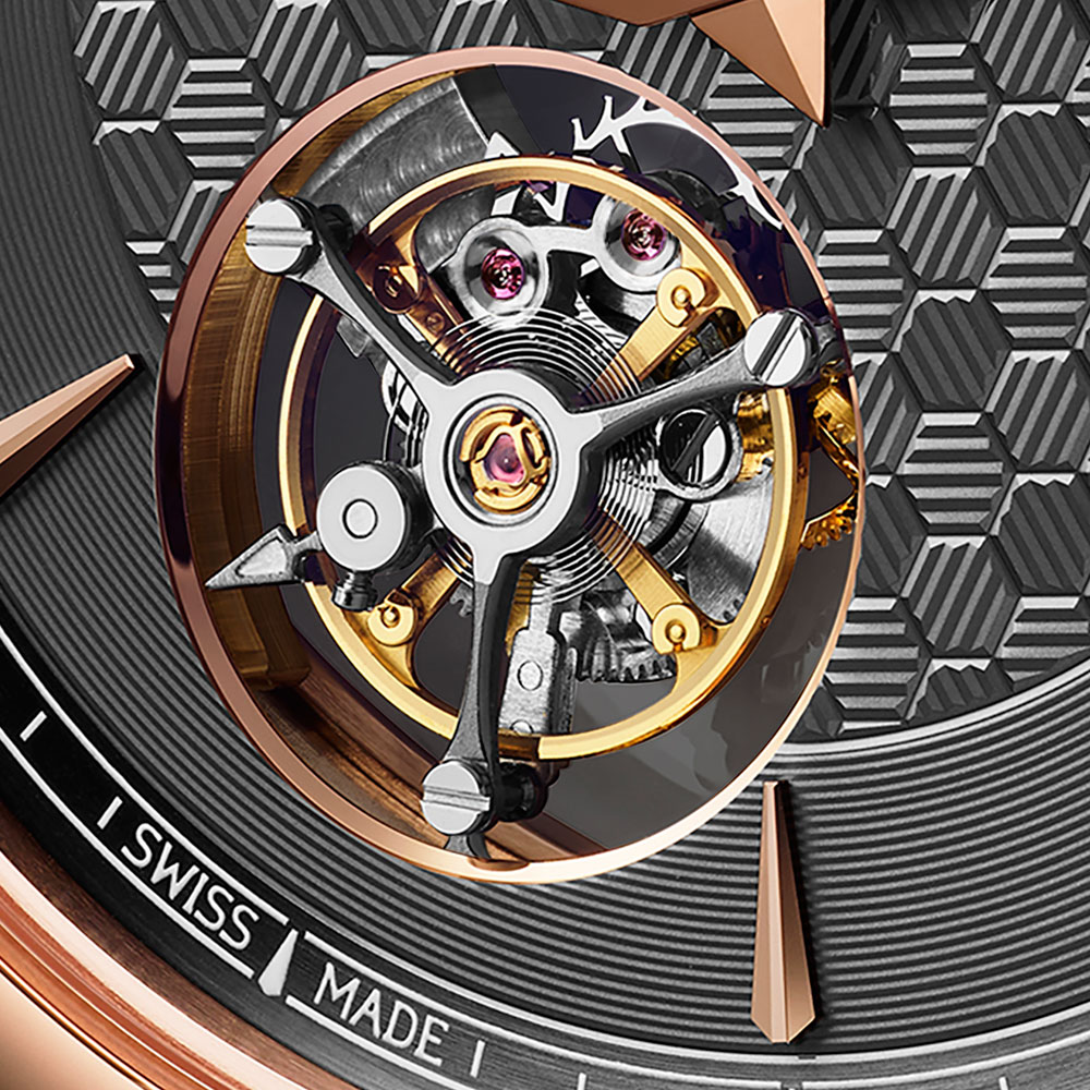 tourbillon del reloj de Chopard L.U.C Flying T Twin