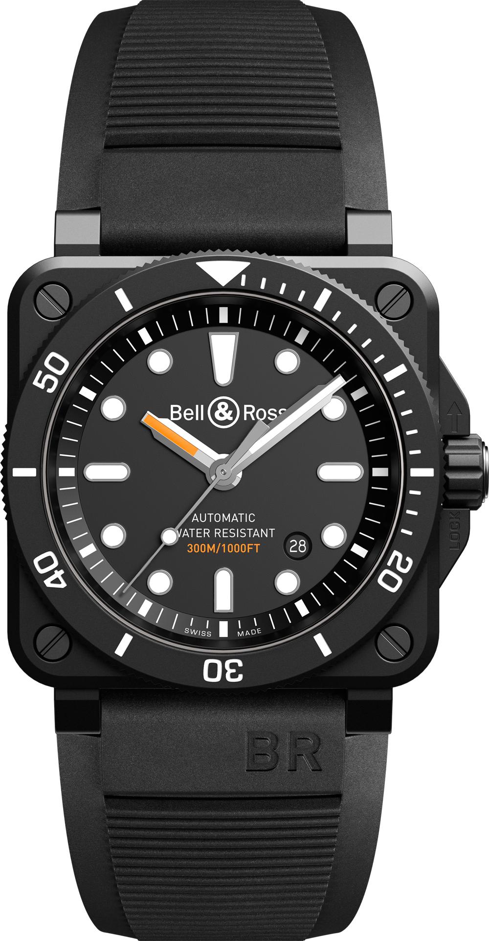 RELOJ BUCEO BELL & ROSS BR 03-92 DIVER BLACK MATTE