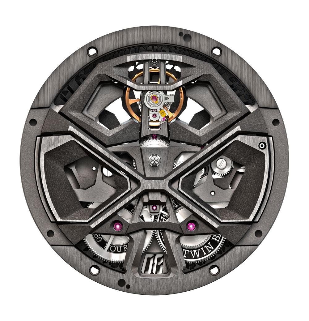 Calibre RD630 del Reloj Roger Dubuis Excalibur Huracán en colaboración con Lamborghini