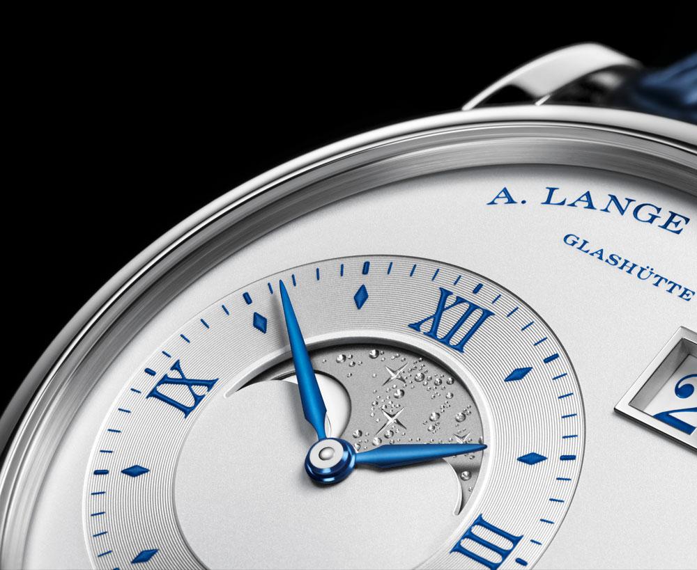 Grabado fases de luna del reloj Grande Lange 1 Fases de la Luna 25th aniversario. de A. Lange