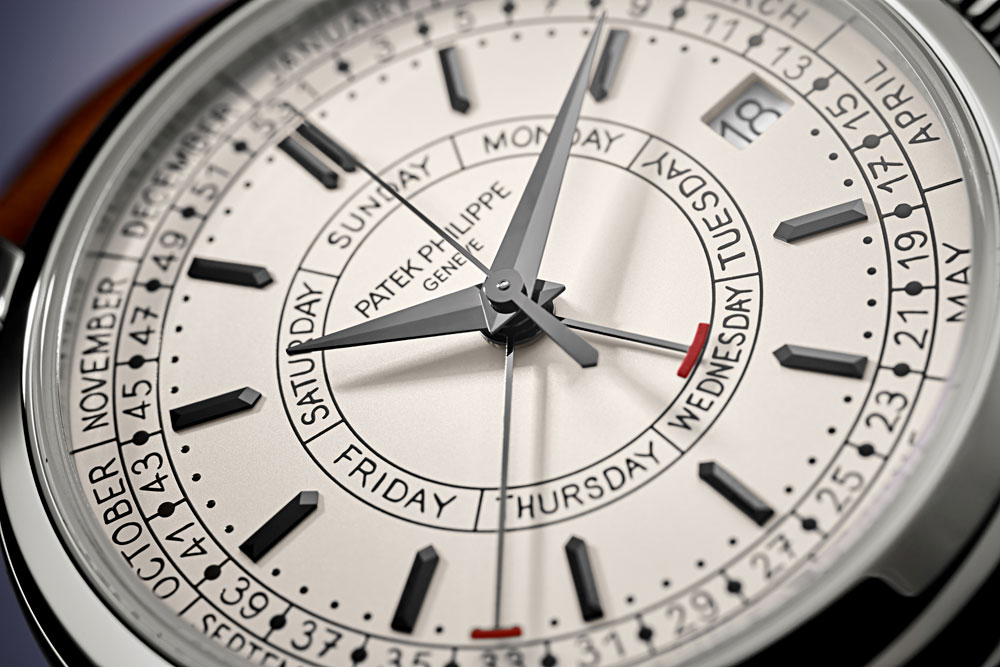 Esfera Primer reloj de acero de Patek Philippe Calatrava Calendario Semanal Referencia 5212A-001