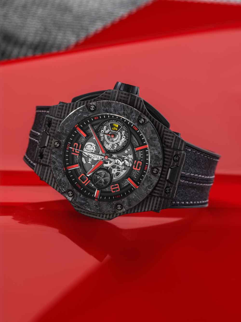 Reloj Hulbot Big Bang Scuderia Ferrari 90th Anniversary 3D Carbon Limited Edition