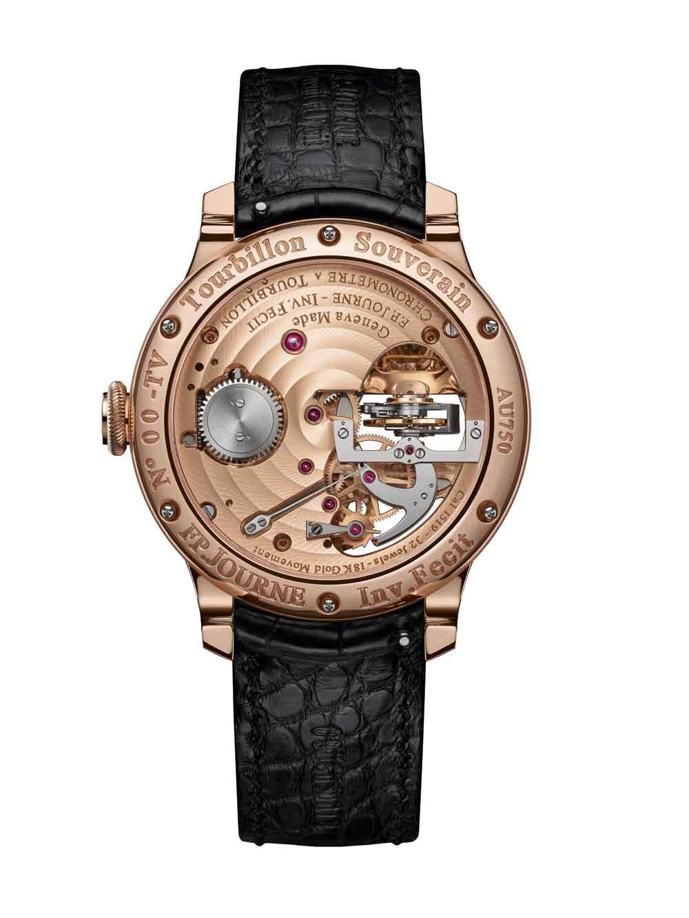 Calibre Reloj Tourbillon Souverain Vertical de F.P Journe Invenit et Fecit