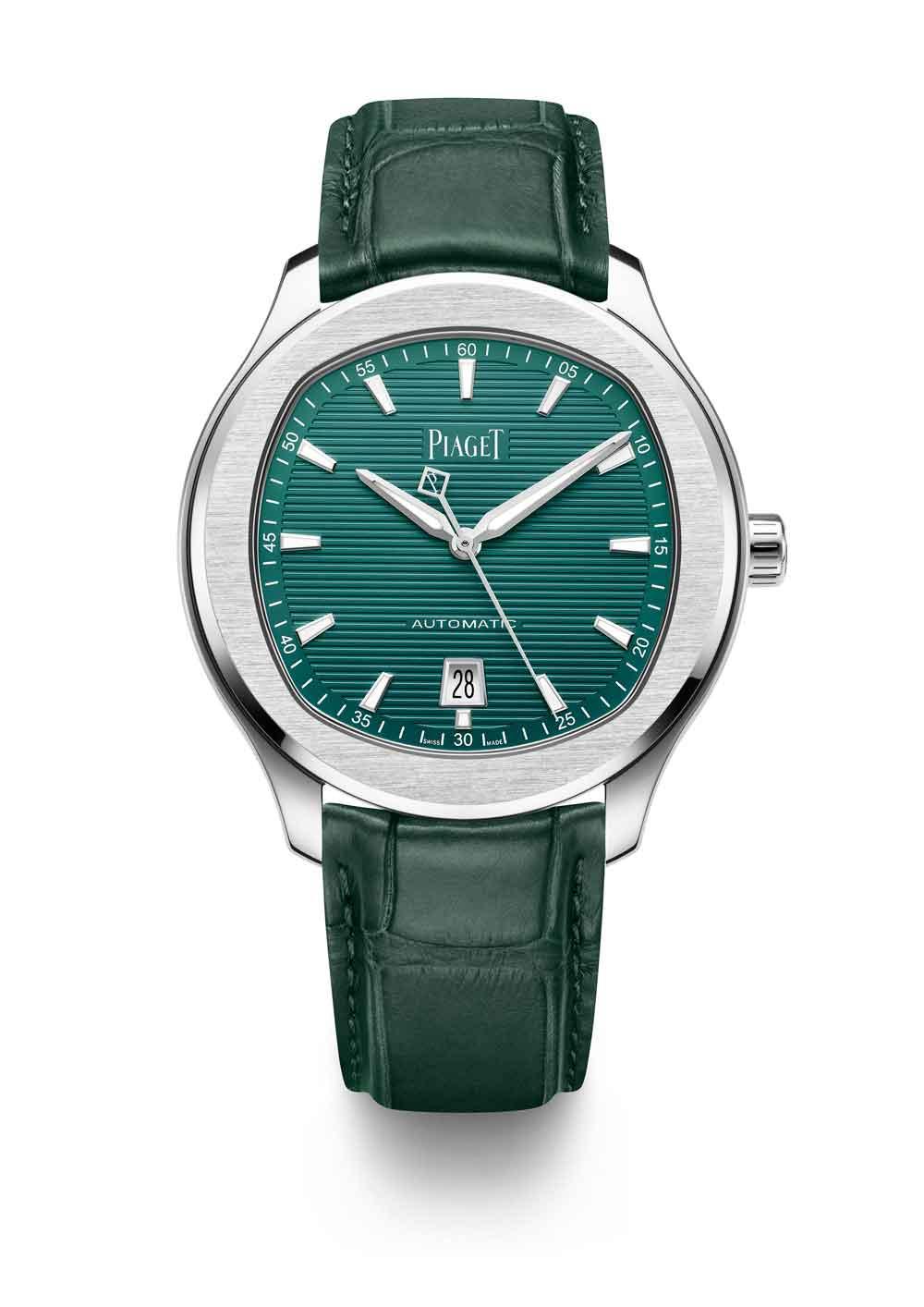 Reloj Piaget Polo 42 con esfera y pulsera verdes