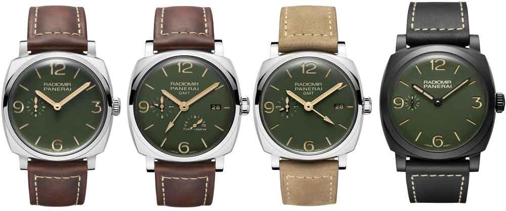 Nuevos relojes Panerai Radiomir esfera verde militar